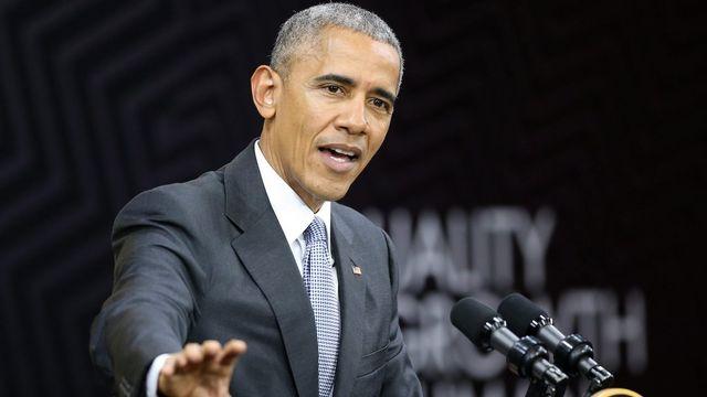 Le président américain Barack Obama à Lima au Pérou. [ERNESTO ARIAS - KEYSTONE]