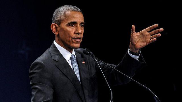 "Barack Obama a""pressé"" Vladimir Poutine de respecter les engagements de la Russie. [Marcin Obara - EPA/Keystone]"