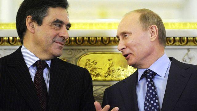 La bonne entente entre François Fillon et Vladimir Poutine est connue de longue date (ici, en 2011). [Natalia Kolesnikova - Pool/Reuters]