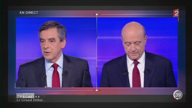 France - Primaire de la droite: l'ultime débat a permis aux deux candidats de détailler leur programme [RTS]