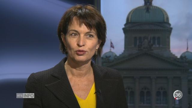 Votations - Nucléaire: la réaction de Doris Leuthard [RTS]