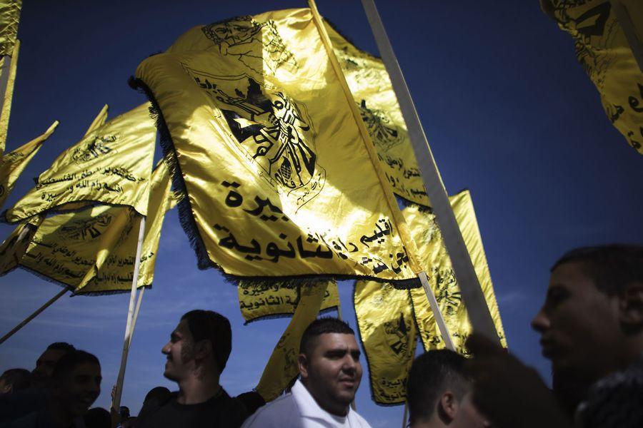Partisans du Fatah à Ramallah.