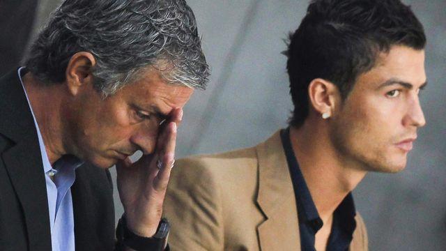 Jose Mourinho (g) et Cristiano Ronaldo. [Javier Lizon - epa/keystone]