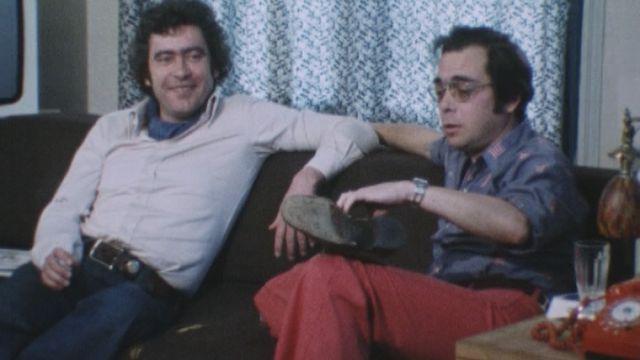 Lauzier (à gauche) et Gotlieb (à droite) en 1977. [RTS]