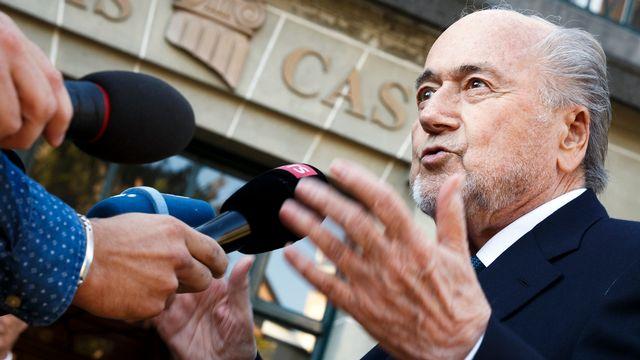 Sepp Blatter avait été suspendu en 2015 à la suite d'un paiement controversé de 1,8 million d'euros à Michel Platini. [Valentin Flauraud - keystone]