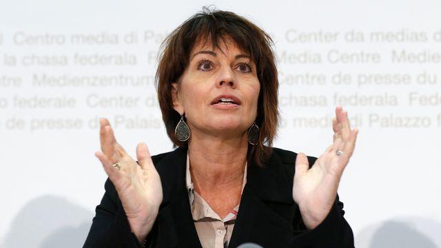 La conseillère fédérale Doris Leuthard. [Peter Klaunzer - Keystone]