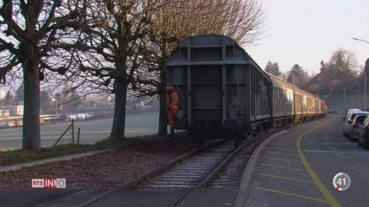 Le trafic de marchandises par voie ferroviaire est toujours plus important [RTS]