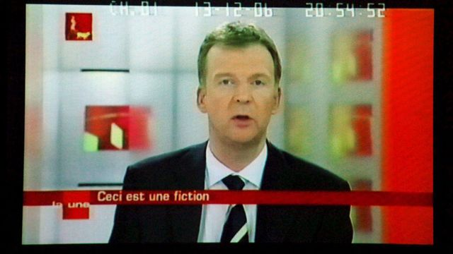 13.12.2006: François De Brigode annonce en direct la sécession flamande. [Yves Boucau - EPA/Keystone]