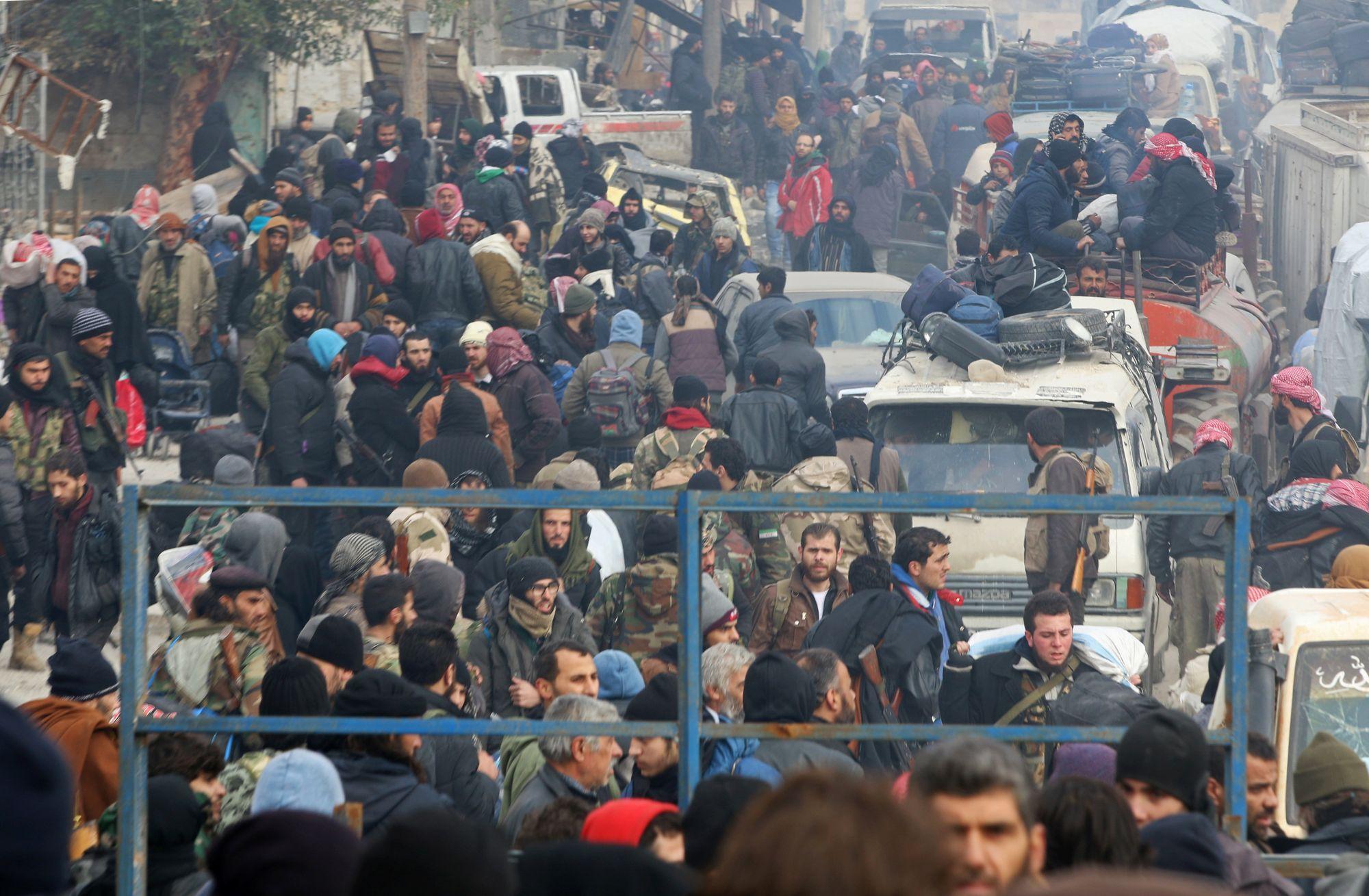 Le régime a déjà évacué plusieurs milliers d'habitants — Alep