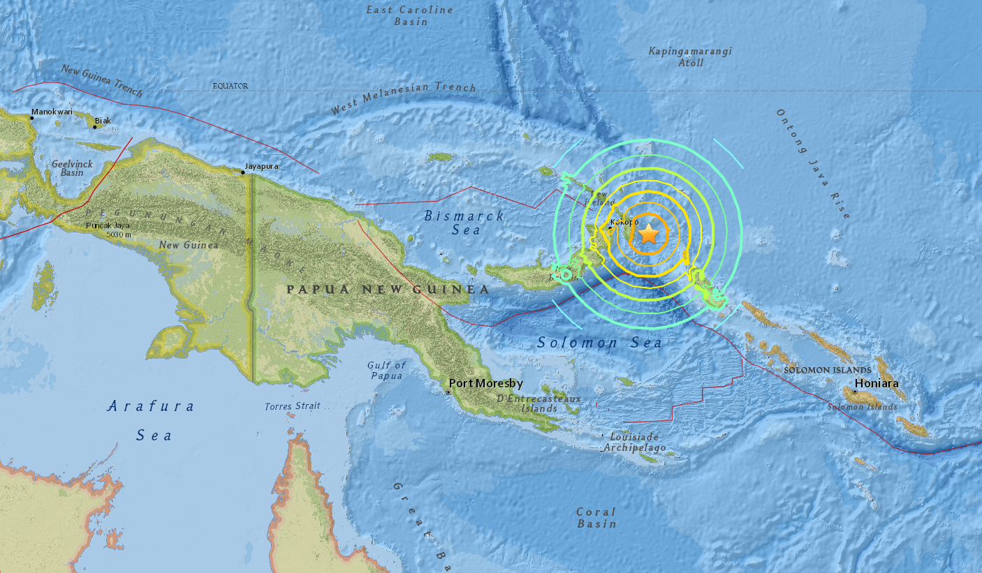 Alerte au tsunami après un séisme — Papouasie Nouvelle Guinée