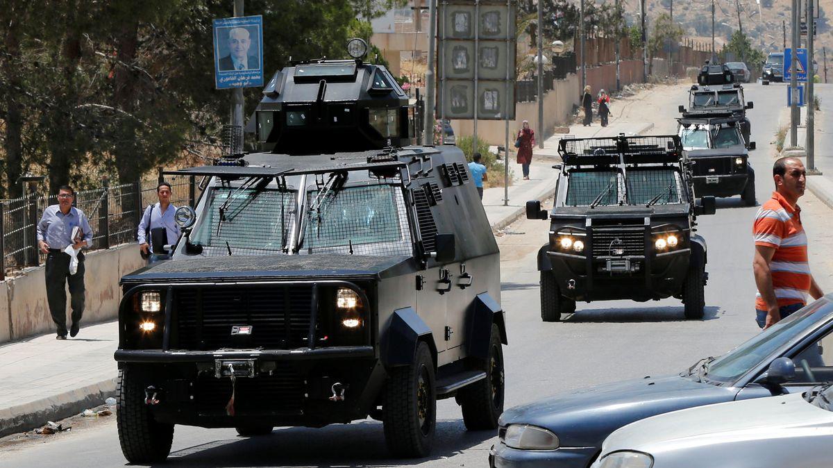 Des véhicules des forces de sécurité jordaniennes (image d'illustration).