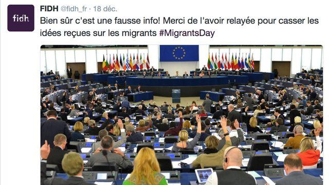 Capture d'écran d'un tweet de la Fédération internationale des droits de l'Homme. [Twitter]
