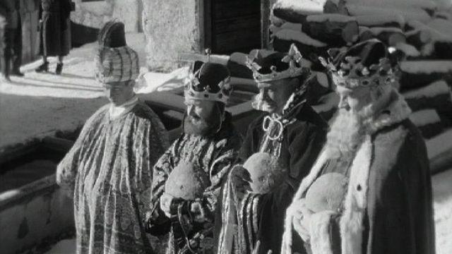 Fête des rois à Chandolin en 1960. [RTS]