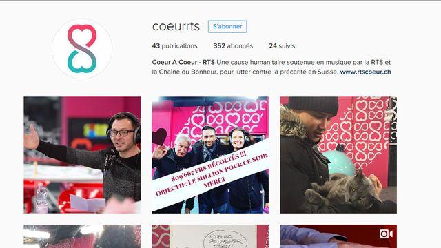 Le compte Instagram de Coeur à Coeur. [Instagram.com/coeurrts]
