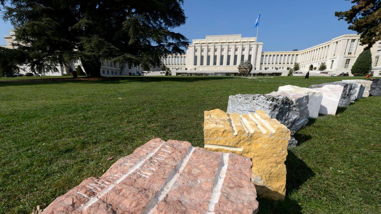 La future Cité de la musique de Genève prendra place à proximité du Palais des Nations qui héberge l'ONU. [Keystone]