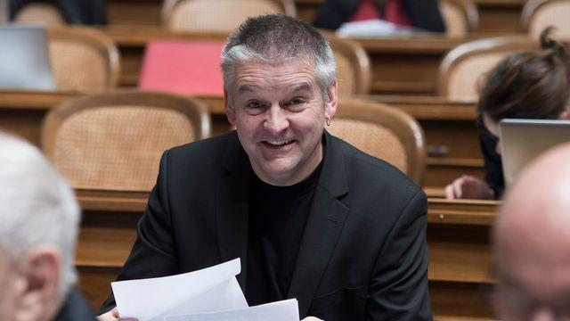 Denis de la Reussille, conseiller national POP neuchâtelois et président du Locle. [Lukas Lehmann - Keystone]