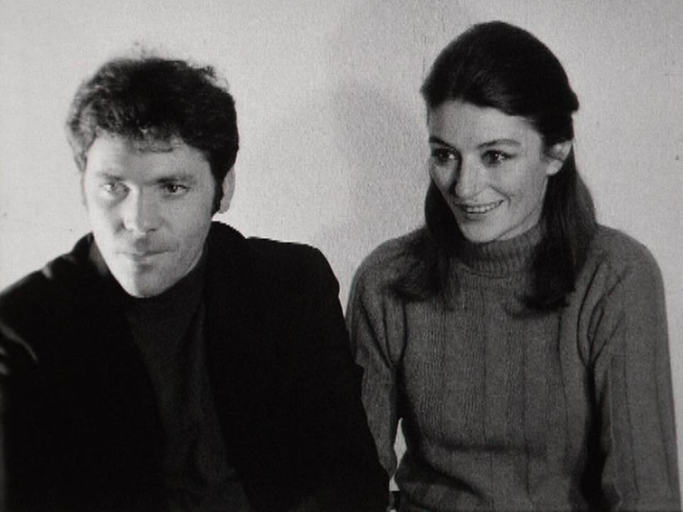 Pierre Barouh et Anouk Aimée en 1966. [RTS]