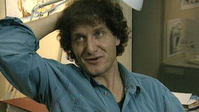Raymond Burki, dessinateur de presse, en 1995. [RTS]