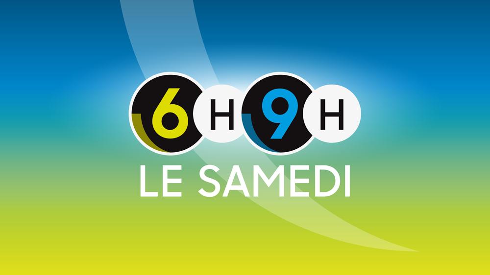 Logo Six heures - Neuf heures, le samedi [RTS]