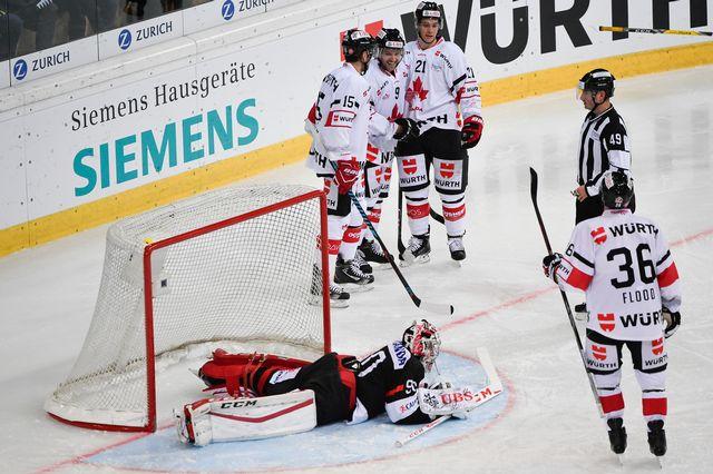 Le Team Canada a très vite pris le match en main. [Gian Ehrenzeller - Keystone]