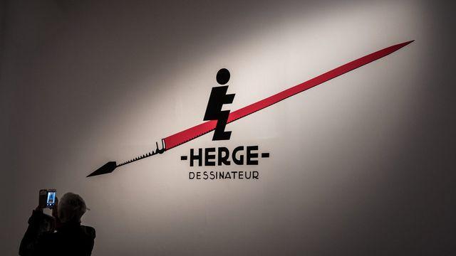 Hergé est à l'honneur au Grand Palais de Paris. [EPA/Christophe Petit Tesson - keystone]