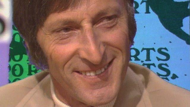 Le cycliste suisse Ferdi Kübler en 1973. [RTS]