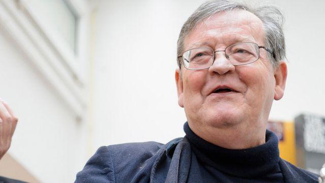 Denis Müller, professeur d'éthique honoraire des Universités de Lausanne et Genève. [Laurent Gillieron - Keystone]
