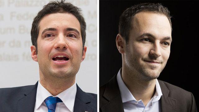 Andrea Caroni et Mathias Reynard. [Keystone]