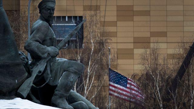 L'ambassade des Etats-Unis à Moscou. [Alexander Zemlianichenko - Keystone]