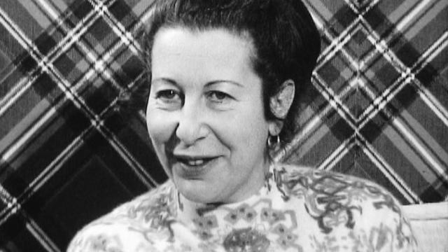 Amélia Christinat, responsable de la Fédération romande des consommatrices en 1971. [RTS]