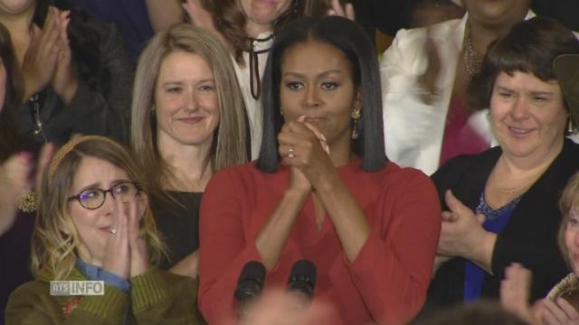 Michelle Obama fait ses adieux de Première dame des Etats-Unis [RTS]