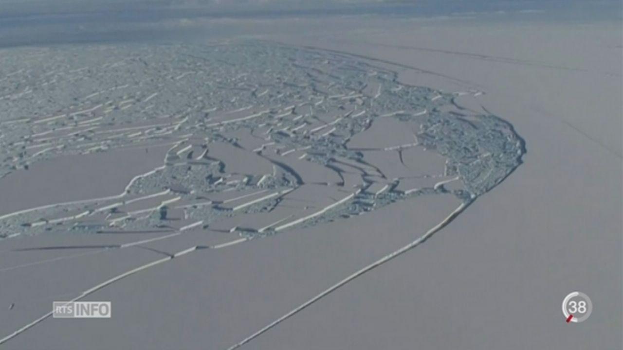 Antarctique: un gigantesque morceau de glace menace de se détacher [RTS]