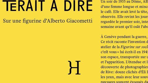 """Versus-lire - Anne Maurel: """"Avec ce quʹil resterait à dire. Sur une figurine dʹAlberto Giacometti"""""""