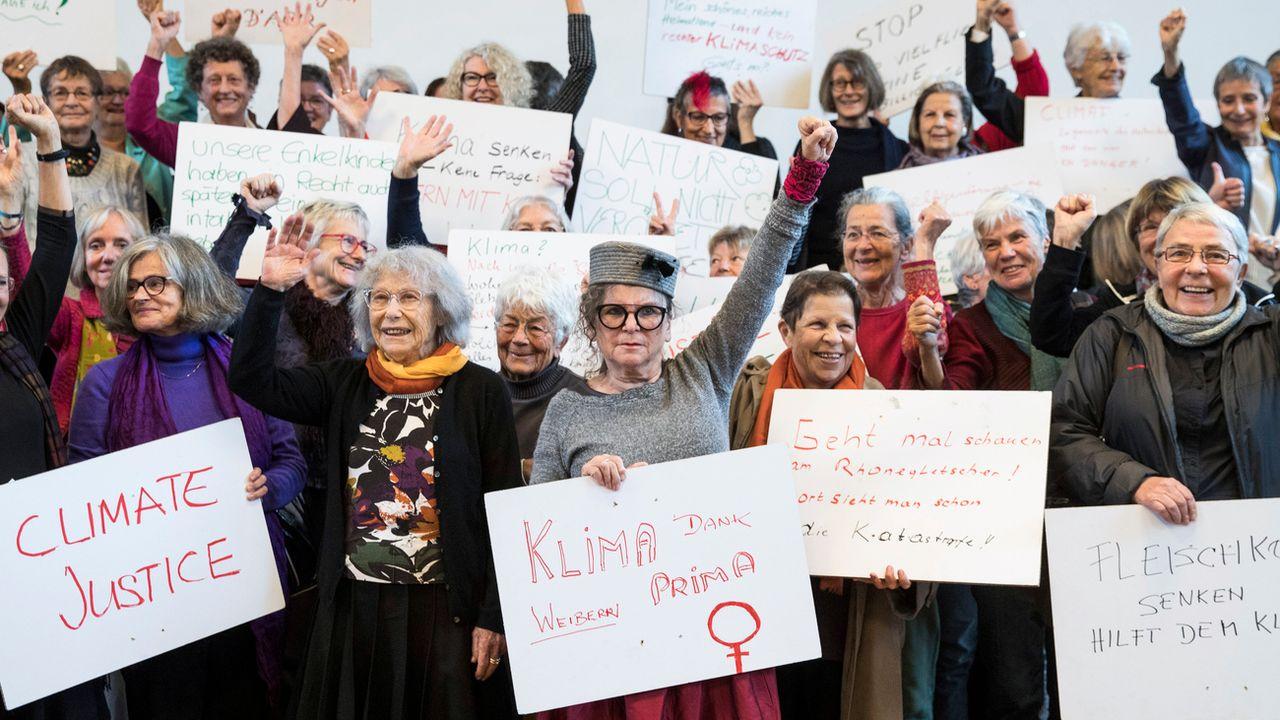 L'association réunit des femmes de la même génération, concernées par la question du climat. [Peter Klaunzer - Keystone]