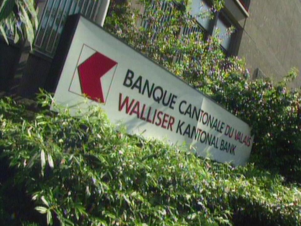 La Banque cantonale du Valais en 1997. [RTS]