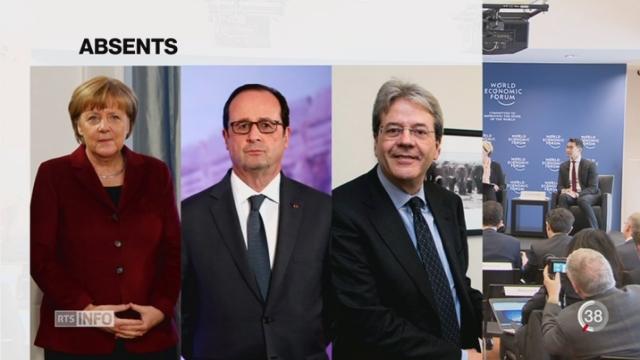 Forum de Davos: désaffectation des leaders européens [RTS]