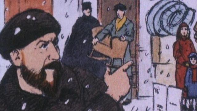 L'abbé Pierre, personnage de légende, personnage de BD. [RTS]