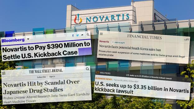 Αποτέλεσμα εικόνας για novartis scandal