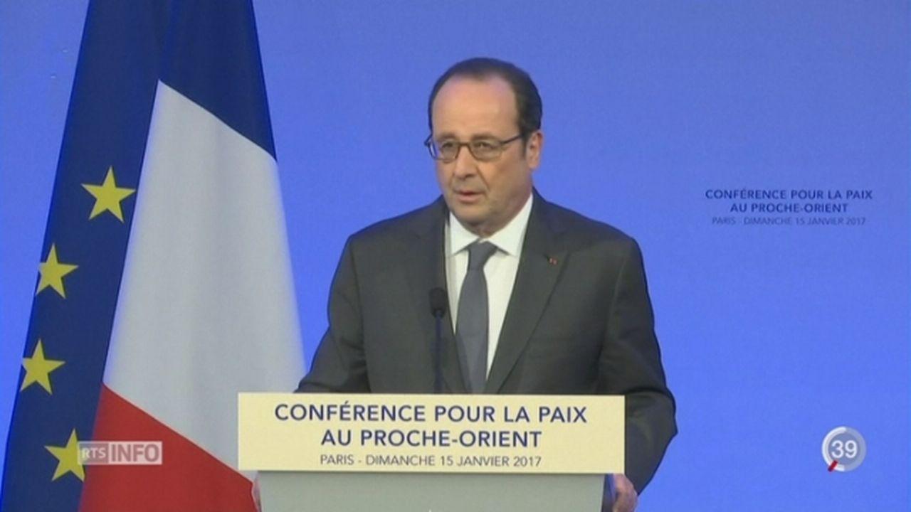 Une conférence à Paris sur la paix entre Palestiniens et Israéliens a été organisée [RTS]