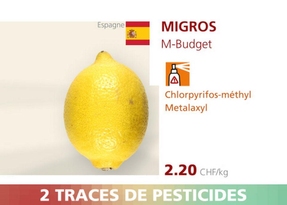 Citron - Migros. [RTS]