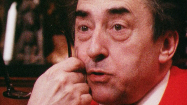 Charles-Henri Favrod chez lui à St-Prex en 1983. [RTS]