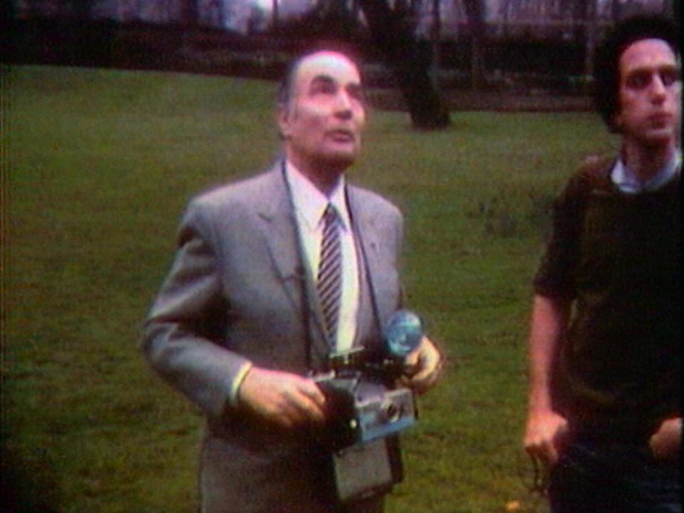 Thierry Dana et le président Mitterrand [RTS]