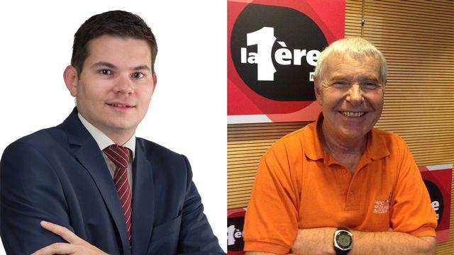 Grégory Logean et Daniel Cherix.