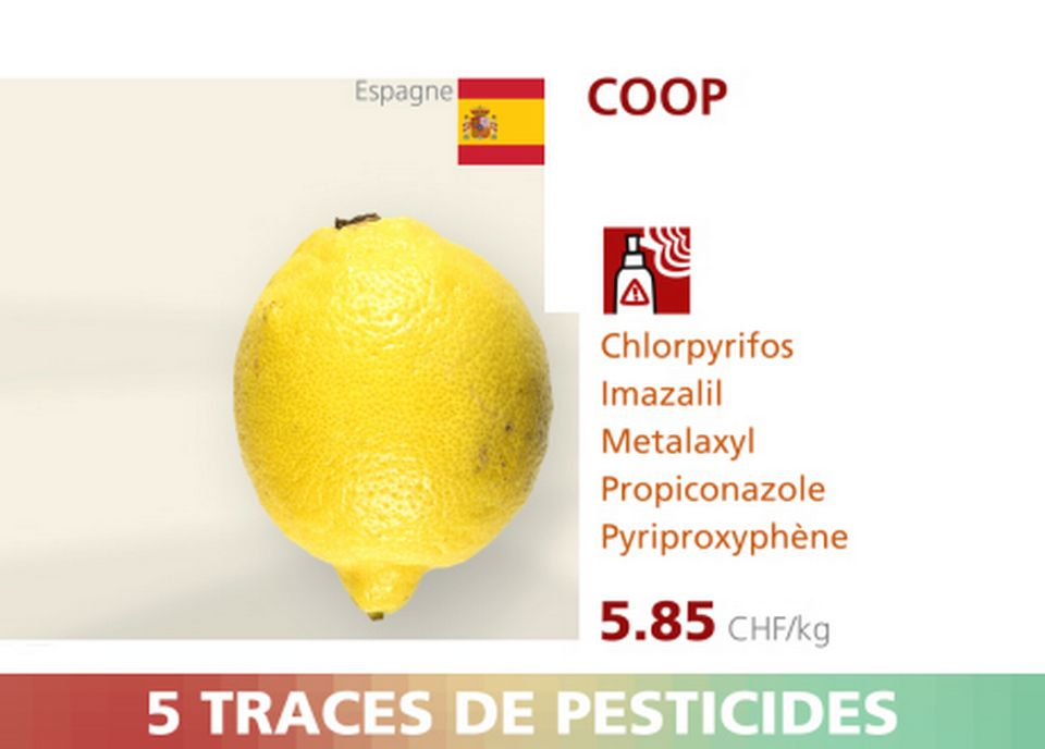 Citron - Coop - 5 pesticides.