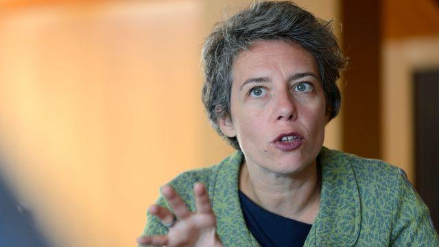La conseillère administrative genevoise Sandrine Salerno, en charge des finances de la ville de Genève. [Martial Trezzini - Keystone]