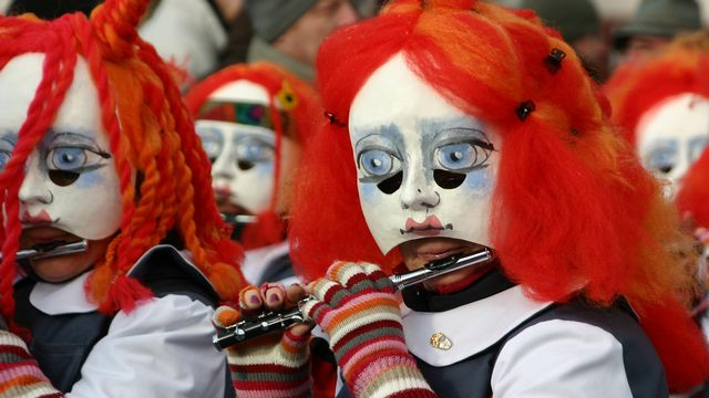 Carnaval de Bâle en 2003. [Jean-Luc Koenig - RTS]