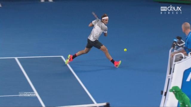 Open d'Australie, 1-8:  R. Federer (SUI) - K. Nishikori (JPN) incroyable échange [RTS]