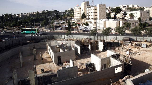 Image d'un bâtiment en construction à Jérusalem-Est. (photo d'illustration) [Keystone]