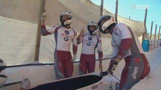 St-Moritz, 2e manche: Oskars Kibermanis (LAT) s'impose en Suisse [RTS]