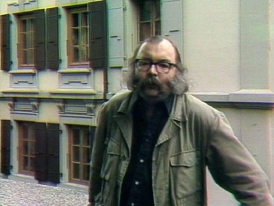Jacques Chessex en 1982. [RTS]